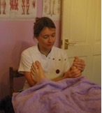 Reflexology treatment can be relaxing